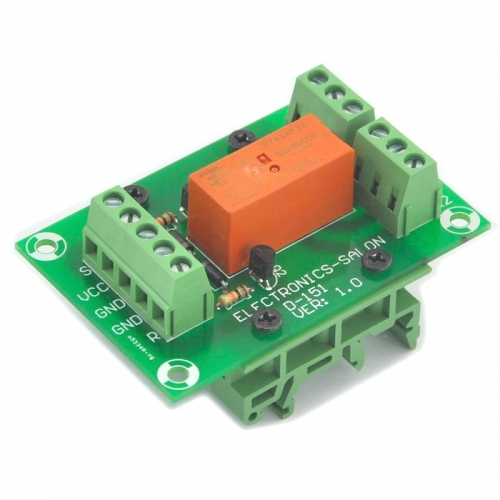 ELECTRONICS-SALON Bistable/Latching DPDT 8 Amp Power Relay Module, DC24V Coil, with DIN Rail Feet