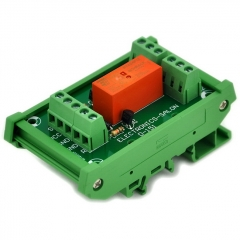 ELECTRONICS-SALON Bistable DPDT 8 Amp Relay Module, DC12V Coil, with DIN Rail Carrier Housing