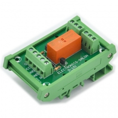 ELECTRONICS-SALON Bistable DPDT 8 Amp Relay Module, DC24V Coil, with DIN Rail Carrier Housing