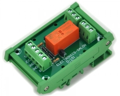 ELECTRONICS-SALON Bistable/Latching DPDT 8 Amp Relay Module, DC5V Coil, with DIN Rail Carrier Housing