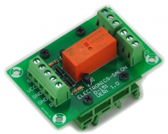 ELECTRONICS-SALON Bistable/Latching DPDT 8 Amp Power Relay Module, DC5V Coil, with DIN Rail Feet
