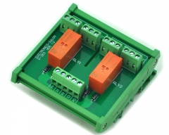 ELECTRONICS-SALON DIN Rail Mount Passive Bistable/Latching 2 DPDT 8A Power Relay Module, 24V Ver.