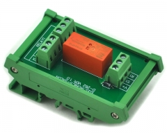 ELECTRONICS-SALON DIN Rail Mount Passive Bistable/Latching DPDT 8A Power Relay Module, 12V Version