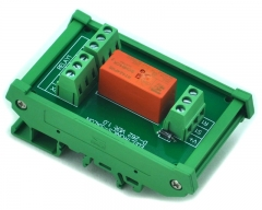 ELECTRONICS-SALON DIN Rail Mount Passive Bistable/Latching DPDT 8A Power Relay Module, 5V Version