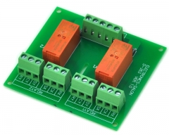 ELECTRONICS-SALON Passive Bistable/Latching 2 DPDT 8 Amp Power Relay Module, 12V Version, RT424F12