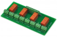 ELECTRONICS-SALON Passive Bistable/Latching 4 DPDT 8 Amp Power Relay Module, 12V Version, RT424F12