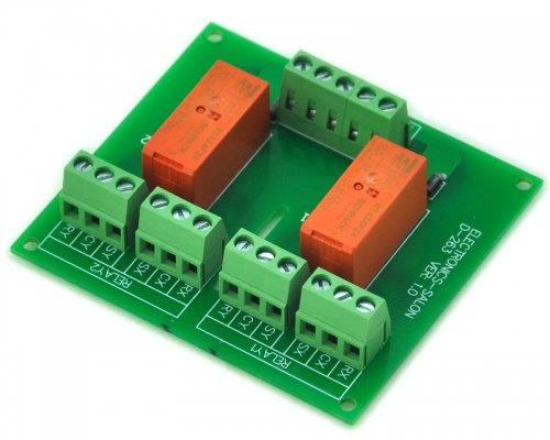 ELECTRONICS-SALON Passive Bistable/Latching 2 DPDT 8 Amp Power Relay Module, 24V Version, RT424F24
