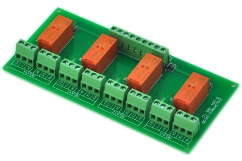 ELECTRONICS-SALON Passive Bistable/Latching 4 DPDT 8 Amp Power Relay Module, 24V Version, RT424F24