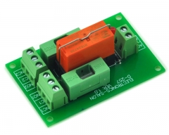 ELECTRONICS-SALON 230VAC Control DPDT 8Amp Power Relay Fused Interface Module Board, RTE24730 AC230V.