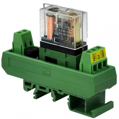 ELECTRONICS-SALON AC/DC 24V Slim DIN Rail Mount 10Amp SPDT Power Relay Interface Module, G2R-1 24V.