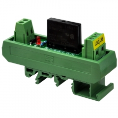 ELECTRONICS-SALON DC 12V Slim DIN Rail Mount 2Amp AC Solid State Relay Interface Module, G3MB-202P 12VDC.
