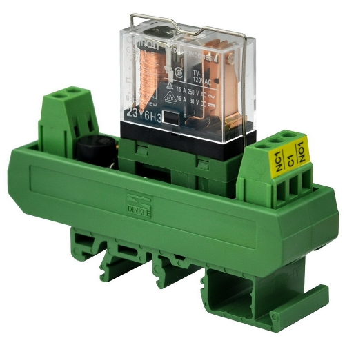ELECTRONICS-SALON AC/DC 12V Slim DIN Rail Mount 16Amp SPDT Power Relay Interface Module, G2R-1-E 12V.