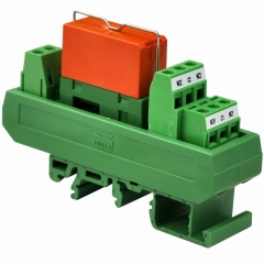 ELECTRONICS-SALON AC 115V Slim DIN Rail Mount 8Amp DPDT Power Relay Interface Module, RTE24615 115VAC.