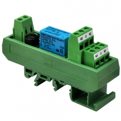 ELECTRONICS-SALON AC/DC 5V Slim DIN Rail Mount DPDT Signal Relay Interface Module, RY5W-K.