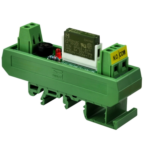 ELECTRONICS-SALON AC/DC 5V Slim DIN Rail Mount 5Amp SPST-NO Power Relay Interface Module, PA1a-5V.