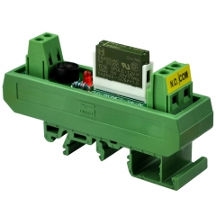 ELECTRONICS-SALON AC/DC 12V Slim DIN Rail Mount 5Amp SPST-NO Power Relay Interface Module, PA1a-12V.