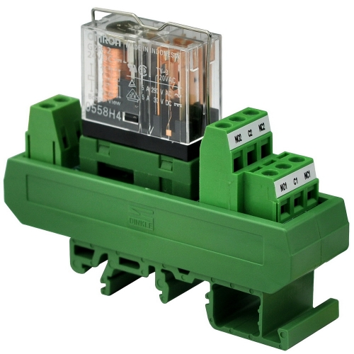 ELECTRONICS-SALON AC/DC 24V Slim DIN Rail Mount 5Amp DPDT Power Relay Interface Module, G2R-2 24V.