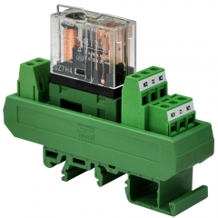 ELECTRONICS-SALON AC/DC 12V Slim DIN Rail Mount 5Amp DPDT Power Relay Interface Module, G2R-2 12V.