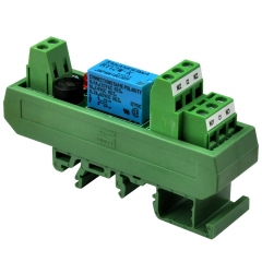 ELECTRONICS-SALON AC/DC 12V Slim DIN Rail Mount DPDT Signal Relay Interface Module, RY12W-K.