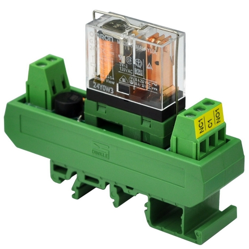 ELECTRONICS-SALON AC/DC 24V Slim DIN Rail Mount 16Amp SPDT Power Relay Interface Module, G2R-1-E 24V.