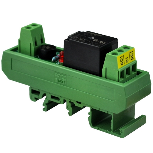 ELECTRONICS-SALON AC/DC 12V Slim DIN Rail Mount 10Amp SPDT Power Relay Interface Module, JS1-12V-F.