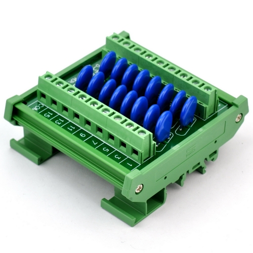 Chunzehui 16 Channels Common DIN Rail Mount 30V SIOV Metal Oxide Varistor Interface Module, Surge Suppressor Protection SPD Board.
