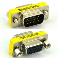DB15HD Male-Female Mini Gender Changer, D-sub Adapter.