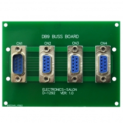 ELECTRONICS-SALON Panel Mount DB9 1 Male 3 Female Buss Board, DB-9 Busboard, D-Sub Bus Board Module.