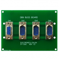 ELECTRONICS-SALON Panel Mount DB9 1 Female 3 Male Buss Board, DB-9 Busboard, D-Sub Bus Board Module.