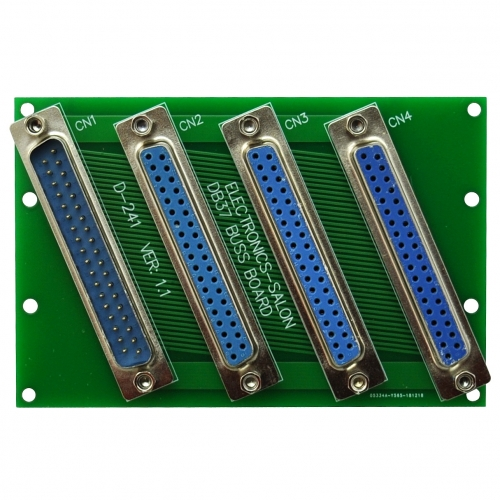 ELECTRONICS-SALON Panel Mount DB37 1 Male 3 Female Buss Board, DB-37 Busboard, D-Sub Bus Board Module.