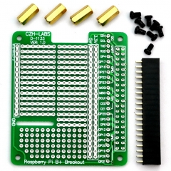 CZH-LABS Prototype Breakout PCB Shield Board Kit for Raspberry Pi 3 2 B+ A+, Breadboard DIY.