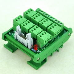 CZH-LABS DIN Rail Mount 8 Channel Sensor Signal Plugable Terminal Distribution Module.