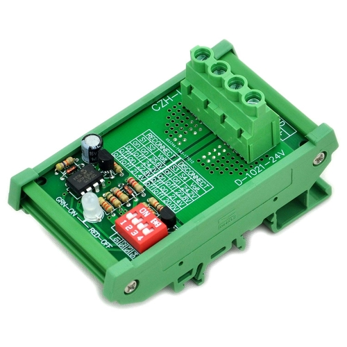 CZH-LABS DIN Rail Mount LVD Low Voltage Disconnect Module, 24V 30A, Protect Battery.