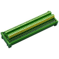 CZH-LABS DIN Rail Mount 24A/400V 30 Position Screw Terminal Block Distribution Module.