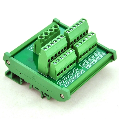 CZH-LABS DIN Rail Mount 12 Position Power Distribution Module.