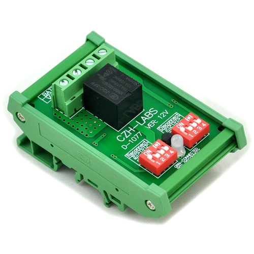 CZH-LABS DIN Rail Mount LVD Low Voltage Disconnect Module, 12V 10A, Protect Battery.