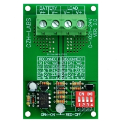 CZH-LABS Low Voltage Disconnect Module LVD, 24V 30A, Protect/Prolong Battery Life.