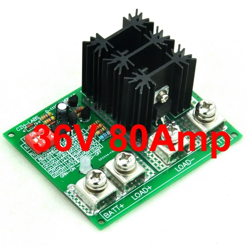CZH-LABS Low Voltage Disconnect Module LVD, 36V 80A, Protect/Prolong Battery Life.