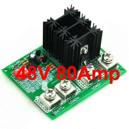CZH-LABS Low Voltage Disconnect Module LVD, 48V 80A, Protect/Prolong Battery Life.