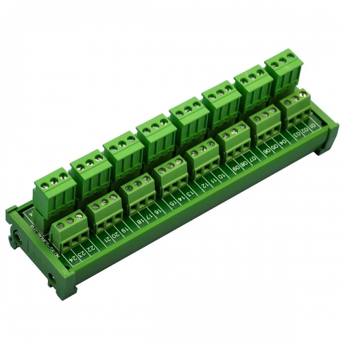 ELECTRONICS-SALON DIN Rail Mount Pluggable Side Wiring 8x3 Pole 10A/300V Terminal Block Module.