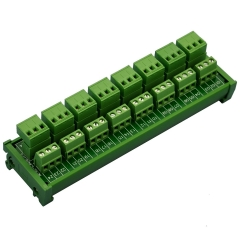 ELECTRONICS-SALON DIN Rail Mount Pluggable Top Wiring 8x3 Pole 10A/300V Terminal Block Module.