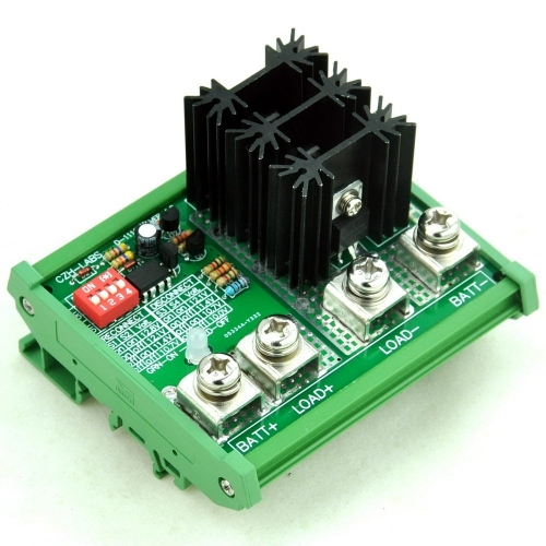 CZH-LABS DIN Rail Mount LVD Low Voltage Disconnect Module, 12V 80A, Protect Battery.