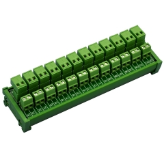 ELECTRONICS-SALON DIN Rail Mount Pluggable Top Wiring 12x2 Pole 10A/300V Terminal Block Module.