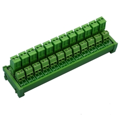 ELECTRONICS-SALON DIN Rail Mount Pluggable Side Wiring 12x2 Pole 10A/300V Terminal Block Module.