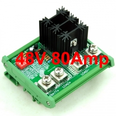 CZH-LABS DIN Rail Mount LVD Low Voltage Disconnect Module, 48V 80A, Protect/Prolong Battery Life.