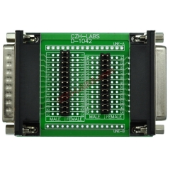CZH-LABS D'sub DB25 Diagnostic Test Breakout Board, DSUB DB25 Connector Male to Female.