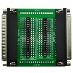 CZH-LABS D'sub DB37 Diagnostic Test Breakout Board, DSUB DB37 Connector Male to Female.