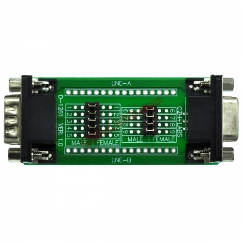 CZH-LABS D'sub DB9 Diagnostic Test Breakout Board, DSUB DB9 Connector Male to Female.