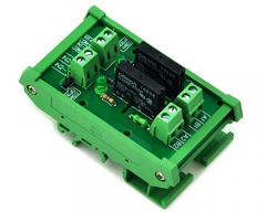 ELECTRONICS-SALON DIN Rail Mount DC24V 2 Channels DC-AC 2Amp G3MB-202P Solid State Relay SSR Module Board.