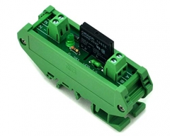ELECTRONICS-SALON DIN Rail Mount DC24V 1 Channel DC-AC 2Amp G3MB-202P Solid State Relay SSR Module Board.